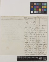Letter from Charles Lemann to Sir William Jackson Hooker; from 4 Bentinck Street, Manchester Square, [London, England]; 12 Oct 1841; three page letter comprising two images; folio 226