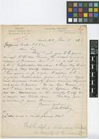 Letter from John H. Ley to John Gilbert Baker; from Tropical Nursery, Anacostia [Washington] D.C.; 11 Jan 1898; one page letter comprising one image; folio 166