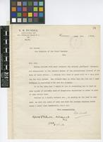Letter from G.B. Dussel to Sir David Prain; from Curacao; 9 June 1913; one page letter comprising one image; folio 76