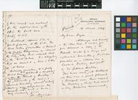 Letter from D.[Daniel] Morris to Sir William Thiselton-Dyer; from Imperial Department of Agriculture for the West Indies; 17 Mar 1899; four page letter comprising two images; folio 29