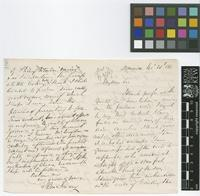 Letter from John Imray to The Royal Botanic Gardens, Kew; from Dominica; 26 Nov 1866; four page letter comprising two images; folio 186
