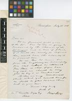 Letter from Joseph Sturge to Sir William Thiselton-Dyer; from The Montserrat Company Limited, Birmingham, [England]; 28 July 1885; one page letter comprising one image; folio 493