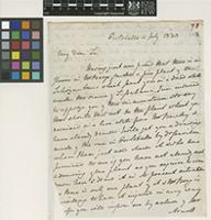 Letter from John Gillies to Sir William Jackson Hooker; from Portobello; 4 July 1830; two page letter comprising two images; folio 70
