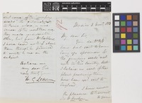 Letter from W.G.[William Garrow] Lettsom to Sir William Jackson Hooker; from Mexico; 2 Nov 1858; four page letter comprising two images; folio 192