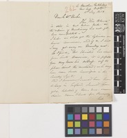 Letter from G.F.[George Farquhar] Morice to Sir William Jackson Hooker; from 4 Amersham Park Villas, New Cross, Deptford, [London, England]; 11 Jan 1859; two page letter comprising two images; folio 262