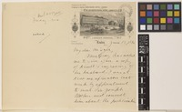 Letter from W.G.[William Gilson] Farlow to Sir William Thiselton-Dyer; from De Keyser's Royal Hotel, London, [England]; 18 June 1892; three page letter comprising two images; folio 308