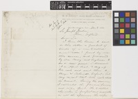 Letter from W.G.[William Greenwood] Wright to Sir Joseph Dalton Hooker; from San Bernardino, California, [United States of America]; 8 Nov 1880; two page letter comprising two images; folio 468