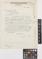Letter from Mrs Elizabeth G.[Gertrude] Britton to Sir David Prain; from New York Botanical Garden, Bronx Park, New York City, [United States of America]; 5 June 1914; one page letter comprising one image; folio 59