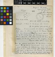 Letter from A. H. S. Vigo to Sir Arthur William Hill; from Maigana Plantation, Agricultural Department, Northern Nigeria; 18 Sep 1921; Two page letter comprising of two images; folio 499