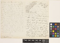 Letter from J.S.[John Sutherland] Law to Sir William Jackson Hooker; from Tanna, [India]; 28 Aug 1848; three page letter comprising two images; folio 284