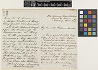 Letter from Edward Wilds to Sir William Jackson Hooker; from HMS 'Swallow', Plymouth Sound, [England]; 12 Apr 1862; four page letter comprising two images; folio 253