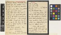 Letter from E.H.[Edward Horace] Man to Sir William Thiselton-Dyer; from Port Blair, Andaman Islands, Bay of Bengal, [India]; 27 Sep 1898; four page letter comprising two images; folio 380