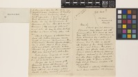 Letter and business card from J.[James] Puckle to the Royal Botanic Gardens, Kew; from 11, The Grove, Blackheath, [London, England]; 27 May c.1876; three page letter comprising two images; folio 711