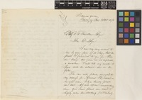 Letter from [Rudolph Herman Christiaan Carel] Scheffer to Sir Joseph Dalton Hooker; from the Botanic Garden, Buitenzorg [Bogor, Java, Indonesia]; 24 Oct 1874; three page letter comprising two images; folio 78/17