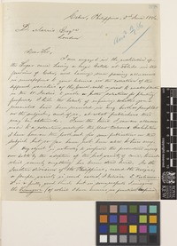 Letter from C.R.[Cornelius Robert] Blair Pickford to Daniel Morris; from Cebu, Philippines; 3 June 1886; two page letter comprising two images; folios 308 - 309