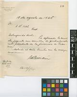Letter from Aníbal Roberto Millán to Sir Arthur William Hill; from Dean Funes 330, Buenos Aires; 18 Aug 1928; one page letter comprising one image; folio 130