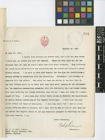 Letter from Robert A. Falconer to Sir Arthur William Hill; from The President's Office, University of Toronto [Canada]; 25 Oct 1926; one page letter comprising one image; folio 114
