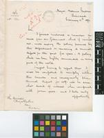 Letter from J.H.[John Hinchley] Hart to Daniel Morris; from Royal Botanic Gardens, Trinidad; 15 Feb 1892; two page letter comprising two images; folio 247