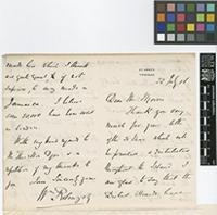 Letter from Wm[William] Robinson to Daniel Morris; from St Anne's, Trinidad; 22 July 1886; four page letter comprising two images; folio 601