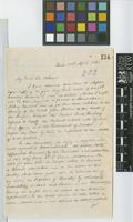 Letter from William Jameson to Sir William Jackson Hooker; from Quito, Ecuador; 20 Apr 1861; two page letter comprising two images; folio 274