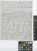 Letter from George Gardner to Sir William Jackson Hooker; from 48 Brougham Place, Renfrew Street, Glasgow; 4 Mar 1843; four page letter comprising three images; folio 88