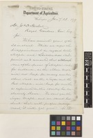 Letter from William G.[Gates] Le Duc to Sir Joseph Dalton Hooker; from United States Department of Agriculture, Washington, D.C., [United States of America]; 21 Jan 1879; two page letter comprising two images; folios 469 - 470