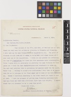 Letter from J.N.[Joseph Nelson] Rose to William Botting Hemsley; from Smithsonian Institution, United States National Museum, Washington, D.C., [United States of America]; 3 Mar 1903; one page letter comprising one image; folio 69