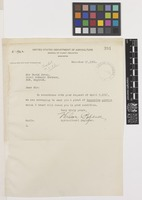 Letter from Wilson Popenoe to Sir David Prain; from United States Department of Agriculture, Bureau of Plant Industry, Washington, D.C., [United States of America]; 17 Dec 1921; one page letter comprising one image; folio 391