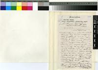 Letter from Walker Peace to Sir William Thiselton-Dyer; from London, England; 24 Sep 1883; one page letter comprising two images; folio 1326