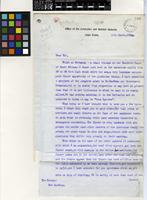Letter from C. Alexander Smith to the Curator, the Royal Botanic Gardens, Kew; from the Office of the Controller and Auditor General, Cape Town; 16 March 1903; two page letter comprising two images; folio 306-307