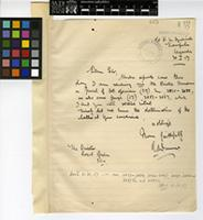 Letter from R.A. Dümmer to Sir David Prain; from Kampala, Uganda; 30 Jan 1917; one page letter comprising one image; folio 665