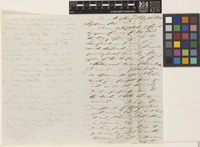 Letter from C.J. Braine to [Sir William Jackson Hooker]; from Hong Kong, [China]; 22 Feb 1850; three page letter comprising two images; folio 34