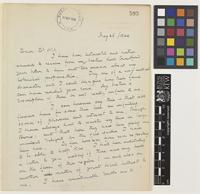 Letter from R.C.[Ronald Charles] Lindsay to Sir Arthur William Hill; from British High Commission, Constantinople [Istanbul, Turkey]; 26 May 1924; two page letter comprising two images; folio 593