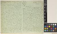 Letter from J.[James Alexander] Gammie to [Mr Smith]; from Rungbee, [India]; 29 Mar 1869; six page letter comprising four images; folios 249 - 250