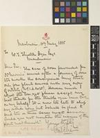 Letter from G. Peché to Sir William Thiselton-Dyer; from Moulmein [Mawlamyine, Burma]; 16 May 1885; one page letter comprising one image; folio 217 Burma