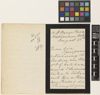 Letter from Ms Mary Johnson to the Royal Botanic Gardens, Kew; from 10 St Mary's Road, Westbourne Park, [London, England]; 23 Aug 1883; three page letter comprising two images; folio 468