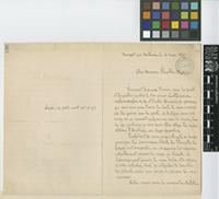 Letter from A. [Auguste Francois Marie] Glaziou to Sir William Thiselton-Dyer; from Bouscat, Bordeaux [France]; 14 Mar 1897; two page letter comprising two images; folio 138
