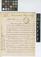 Letter from John C.[Christopher] Willis to Sir David Prain; from Jardim Botanico, Rio de Janeiro, [Brazil]; 24 May 1912; four page letter comprising three images; folios 117 - 118
