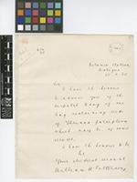 Letter from William H. Patterson to The Royal Botanic Gardens, Kew; from Botanic Station, Antigua; 25 Jan 1905; one page letter comprising one image; folio 9
