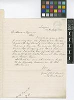 Letter from James McNair to Daniel Morris; from Lagos; 24 July 1888; one page letter comprising one image; folio 691