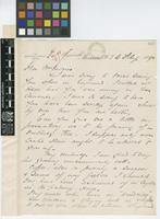 Letter from Henry de Courey Hamilton to Daniel Morris; from Plymouth, Montserrat, W.I.[West Indies]; 6 Feb 1895; two page letter comprising two images; folios 449 - 450