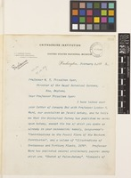 Letter from G.[George] Brown Goode to Sir William Thiselton-Dyer; from Smithsonian Institution, United States National Museum, Washington, D.C., [United States of America]; 5 Feb 1889; four page letter comprising four images; folios 354 - 356