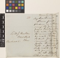 Letter from F.[Francis] Boott to Sir William Jackson Hooker; from 24 Gower Street, [London, England]; 8 Nov [1842]; two page letter comprising one image; folio 38